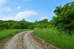 Landscape, dirt road Royalty Free Stock Photography