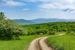 Landscape, dirt road, Caucasus Stock Image