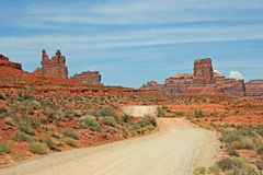 Dirt road through Valley of the Gods Stock Photos