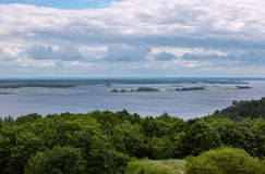 Landscape of Dnipro river. Ukraine. Royalty Free Stock Photo