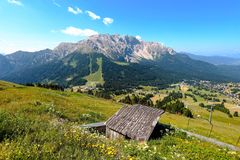 Landscape of Dolomites Alps, Italy. royalty free stock image