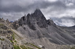 Landscape Dolomites - Monte Paterno Royalty Free Stock Images