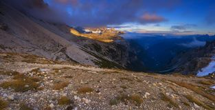Landscape of dolomites mountains Royalty Free Stock Photo