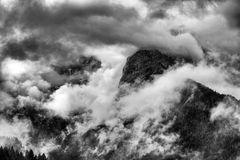 Landscape of Dolomites Mountains. Panorama of Dolomites Mountains in Trentino Italy Royalty Free Stock Images