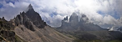 Landscape Dolomites - Tre Cime di Lavaredo Royalty Free Stock Photo