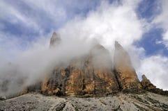 Landscape Dolomites - Tre Cime di Lavaredo Stock Image