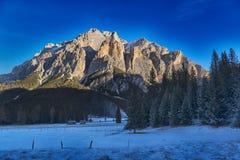 Landscape on the Dolomiti of Alta Badia Stock Photos