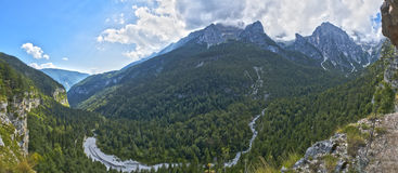 Landscape on the Dolomiti of Brenta Group Royalty Free Stock Images
