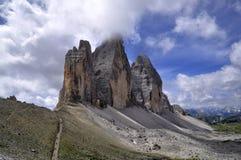 Landscape Dolomity - Tre Cime di Lavaredo Royalty Free Stock Photos