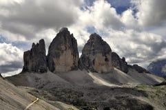 Landscape Dolomity - Tre Cime di Lavaredo Stock Images