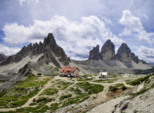 Landscape Dolomity - Tre Cime di Lavaredo Royalty Free Stock Image