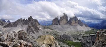 Landscape Dolomity - Tre Cime di Lavaredo Stock Image