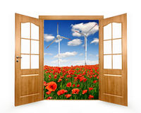 Landscape by doors wiev Stock Images
