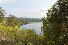 Landscape Dordogne river Cirque de Tremolat royalty free stock photos
