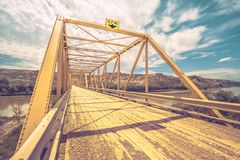 Bridge in the Badlands royalty free stock images