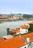 Landscape of Douro river in Porto, Portugal Royalty Free Stock Photo