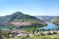 Landscape of  Douro vineyards, Portugal Stock Image