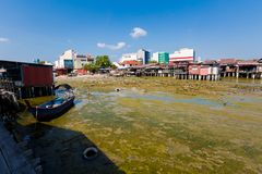 Dove jetty Penang island Malaysia royalty free stock image