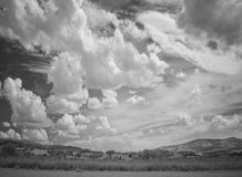 Landscape with dramatic sky Royalty Free Stock Photography