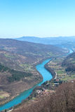 Landscape of Drina river. Beautiful landscape of drina river royalty free stock photos