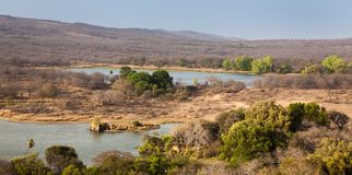 Landscape of dry forests. Landscape of of dry forest & lake Ranthambhore Tiger Reserves Royalty Free Stock Photography