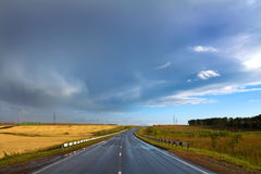 Landscape with dry rural road Royalty Free Stock Photos