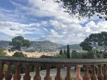 Point de vue sur Nice. Landscape du balcon stock images
