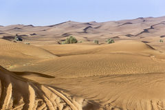 Landscape of Dubai Desert. While on Safari stock images