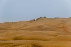 Landscape of Dubai Desert. While on Safari royalty free stock image