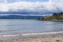 Landscape of Dublin bay seacoast Royalty Free Stock Images