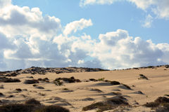 Landscape Dunes of Corralejo, Fuerteventura, Canary Islands, Spain Royalty Free Stock Photography