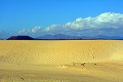 Landscape Dunes of Corralejo, Fuerteventura, Canary Islands, Spain Royalty Free Stock Photography