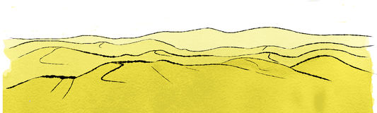 Landscape with dunes. Illustration of landscape with dunes vector illustration