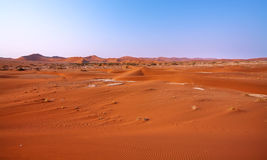 Landscape of dunes in Namib desert Stock Image