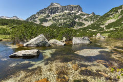 Landscape of Dzhangal peak and Banski lakes, Pirin Mountain Stock Photo