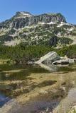 Landscape of Dzhangal peak and Banski lakes, Pirin Mountain Stock Image
