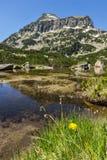 Landscape of Dzhangal peak and Banski lakes, Pirin Mountain Royalty Free Stock Photos