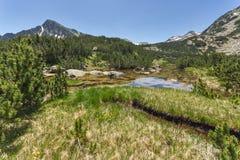Landscape of Dzhano peak and Banski lakes, Pirin Mountain Stock Photo