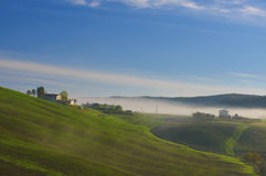 Landscape of early morning at Tuscany. Stock Photos