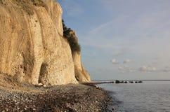 Unique limestone cliff Moens Klint, Denmark. Royalty Free Stock Photos