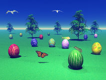 Landscape for easter Stock Photography