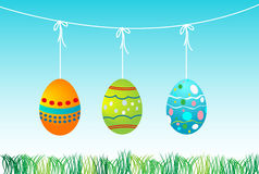 Landscape for easter Eggs Royalty Free Stock Photography