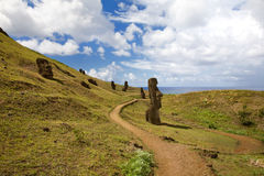Landscape at easter island Royalty Free Stock Photo