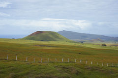 Landscape of Easter Island, Chile stock photo