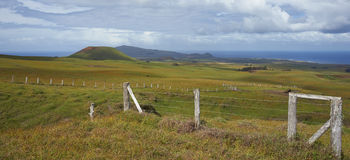 Landscape of Easter Island, Chile royalty free stock image