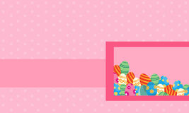 Landscape of easter theme style greeting card Royalty Free Stock Photo