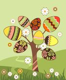 Landscape with easter tree Stock Images
