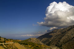 Landscape of Eastern-Crete Stock Image