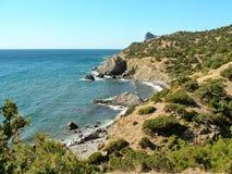 Landscape eastern Crimea. View of the coast of the eastern Crimea royalty free stock photo
