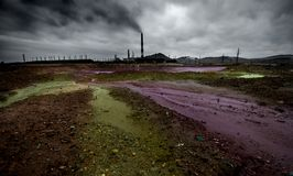 Landscape with ecology pollution Stock Image